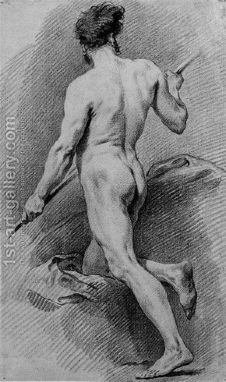 A nude by (after) Jean-Baptiste-Marie Pierre - Reproduction Oil Painting