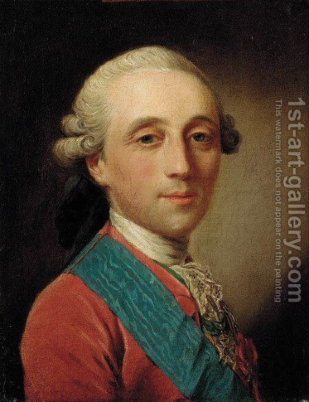Portrait of the Comte d'Artois by (after) Jean-Martial Fredou - Reproduction Oil Painting