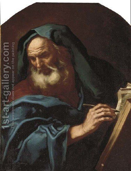 An Evangelist by (after) Johann Karl Loth - Reproduction Oil Painting