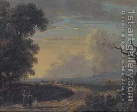 Returning home at dusk by (after) John Inigo Richards - Reproduction Oil Painting