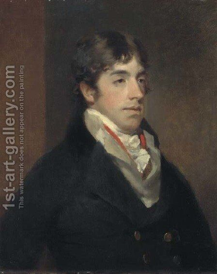 Portrait of a gentleman by (after) John James Masquerier - Reproduction Oil Painting