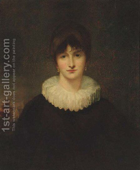 Portrait of a lady by (after) John Opie - Reproduction Oil Painting