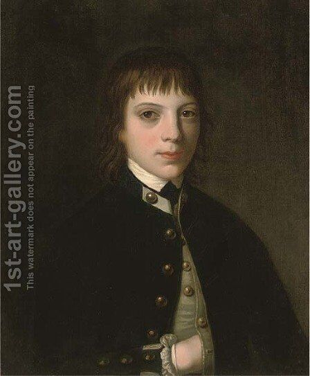 Portrait of Admiral Sir Graham Moore, as a midshipman by (after) John Opie - Reproduction Oil Painting