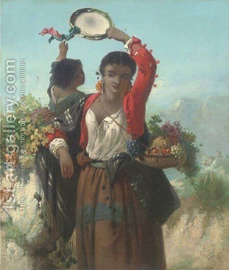 Spanish dancers by (after) John Phillip - Reproduction Oil Painting