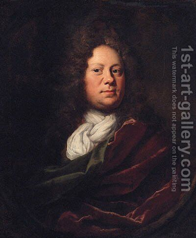 Portrait Of A Gentleman by (after) John Riley - Reproduction Oil Painting