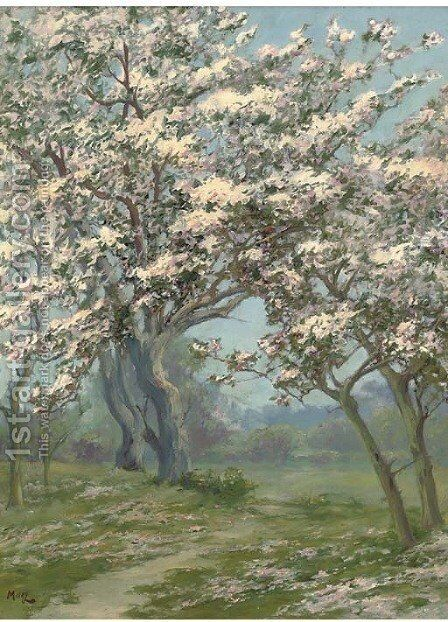 Spring blossom by (after) John Stewart Maclaren - Reproduction Oil Painting