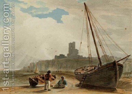Aberystwyth by (after) John Varley - Reproduction Oil Painting