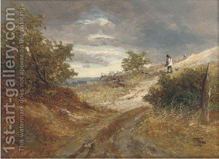 A blustery day by (after) Joseph Thors - Reproduction Oil Painting