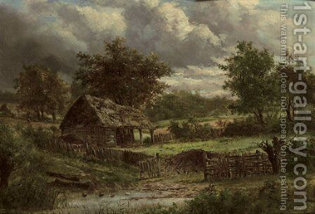 Near Selly Oak, Worcestershire by (after) Joseph Thors - Reproduction Oil Painting