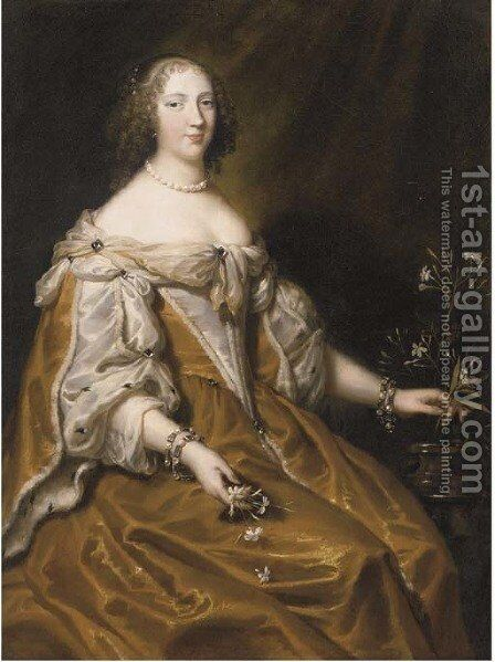 Portrait of a lady by (after) Justus Van Egmont - Reproduction Oil Painting