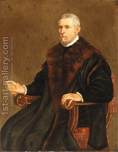 Portrait of a gentleman by (after) Leandro Bassano - Reproduction Oil Painting