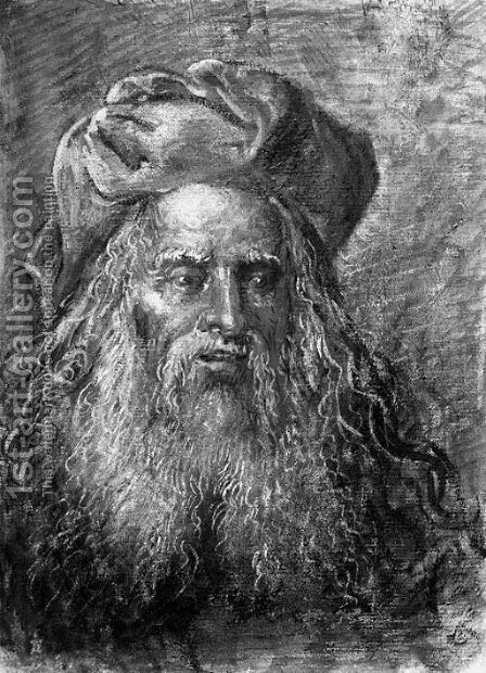 Portrait of a bearded old man by (after) Leonaert Bramer - Reproduction Oil Painting