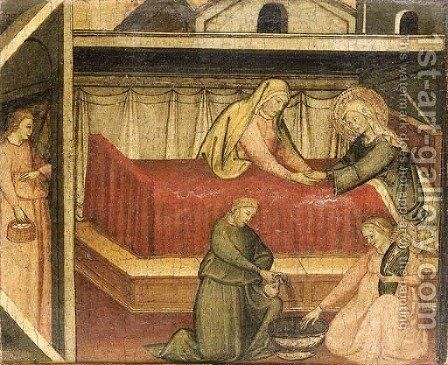 The Nativity of the Virgin by (after) Lorenzo Di Niccolo Gerin - Reproduction Oil Painting