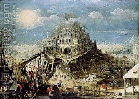 The Tower of Babel by (after) Louis De Caullery - Reproduction Oil Painting
