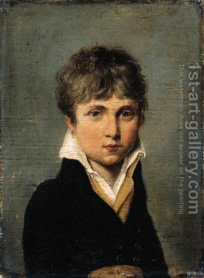 Portrait of a young man by (after) Louis Leopold Boilly - Reproduction Oil Painting