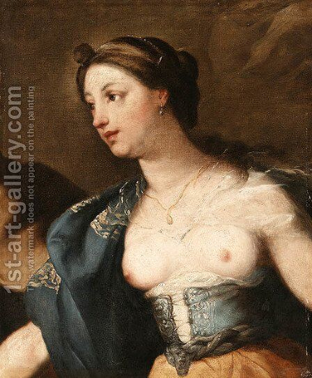 A Warrior Queen by (after) Luca Giordano - Reproduction Oil Painting