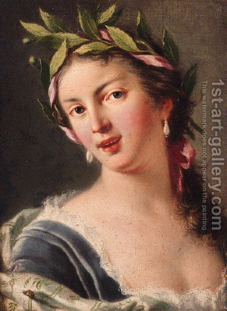 Portrait of a lady by (after) Luigi Crespi - Reproduction Oil Painting