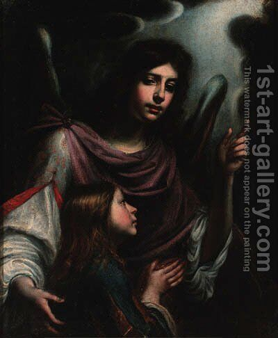 Tobias and the Angel by (after) Matteo Rosselli - Reproduction Oil Painting