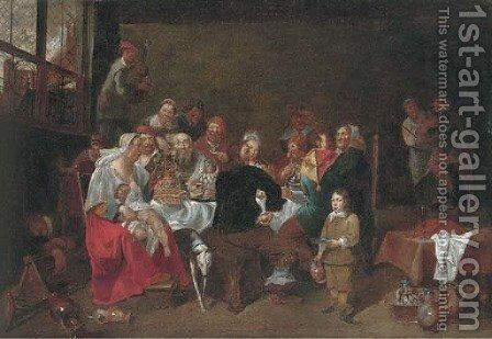 The Bean King by (after) Matheus Van Helmont - Reproduction Oil Painting