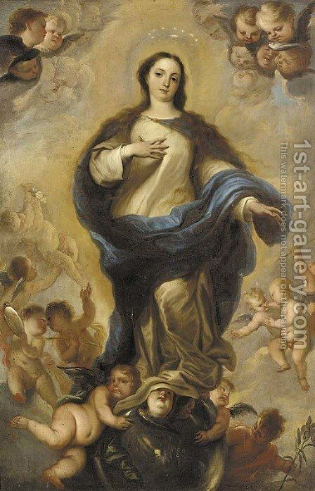The Immaculate Conception by (after) Miguel Jacinto Menendez - Reproduction Oil Painting