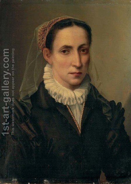 Portrait of Contessina Mattei by (after) Mirabello Cavalori (Salincorno) - Reproduction Oil Painting