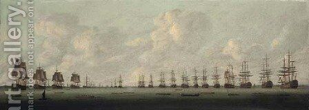 The Naval Review, Spithead, 1814 by (after) Nicholas Pocock - Reproduction Oil Painting