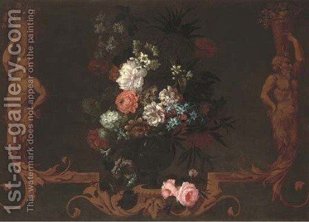 Chrysanthenums by (after) Nicholas Ricoeur - Reproduction Oil Painting