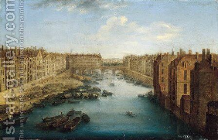 A view of the Pont Neuf, Paris by (after) Orazio Grevenbroeck - Reproduction Oil Painting