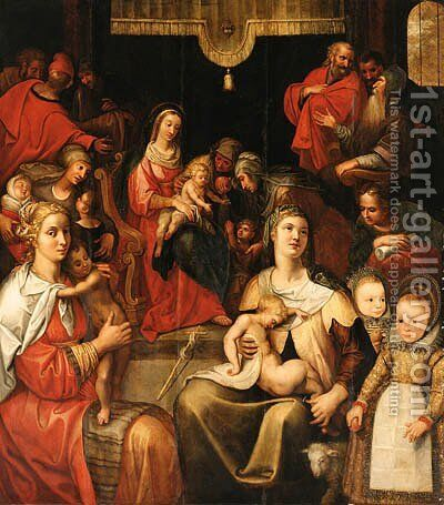 The Holy Kinship by (after) Otto Van Veen - Reproduction Oil Painting
