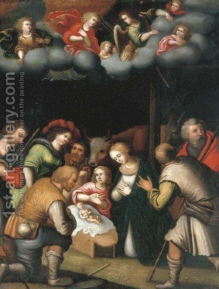 The Adoration of the Shepherds by (after) Pieter Lisaert - Reproduction Oil Painting
