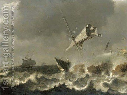A storm at sea by (after) Pieter The Younger Mulier (Tampesta, Pietro - Reproduction Oil Painting