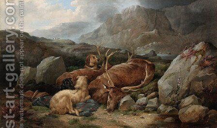 The End of the Day by (after) Richard Ansdell - Reproduction Oil Painting