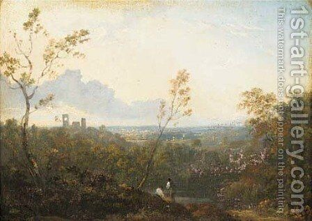 An Italianate landscape by (after) Richard Wilson - Reproduction Oil Painting
