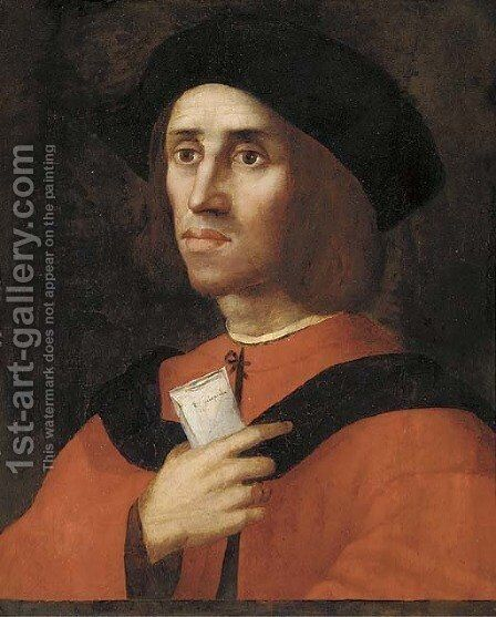 Portrait of a scholar by (after) Ridolfo Ghirlandaio - Reproduction Oil Painting