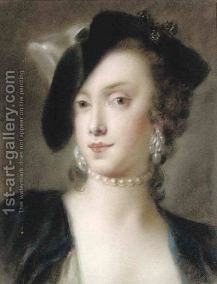 Portrait of Caterina Sagredo Barbarigo by (after) Rosalba Carriera - Reproduction Oil Painting