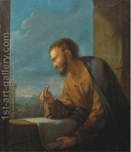 Archimedes by (after) Rosa, Salvator - Reproduction Oil Painting