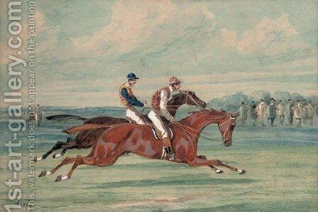 On the gallops by (after) Samuel Jun Alken - Reproduction Oil Painting
