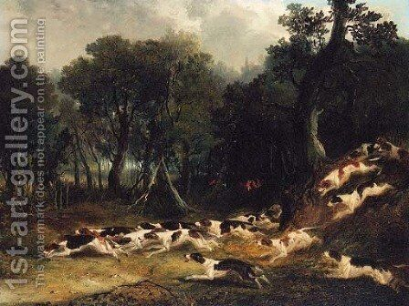 Hounds breaking Cover by (after) Samuel John Egbert Jones - Reproduction Oil Painting