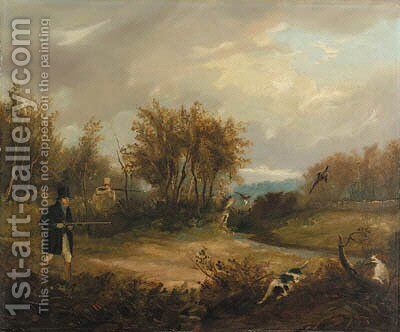Pheasant shooting by (after) Samuel John Egbert Jones - Reproduction Oil Painting