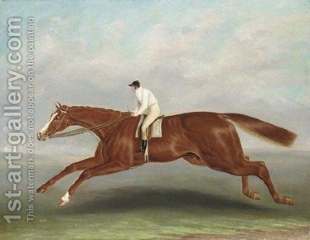 Lord Wilton's Gladiator, with Bill Scott up by (after) Samuel Spode - Reproduction Oil Painting