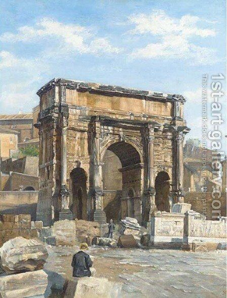 L'Arco di Constantino, Roma by (after) Scipione Vannutelli - Reproduction Oil Painting