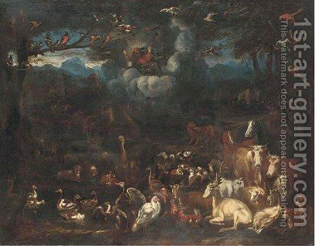 The Creation by (after) Sinibaldo Scorza - Reproduction Oil Painting