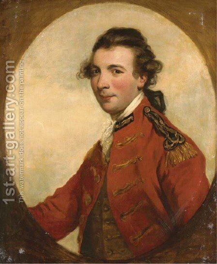Portrait of an officer by (after) Sir Joshua Reynolds - Reproduction Oil Painting
