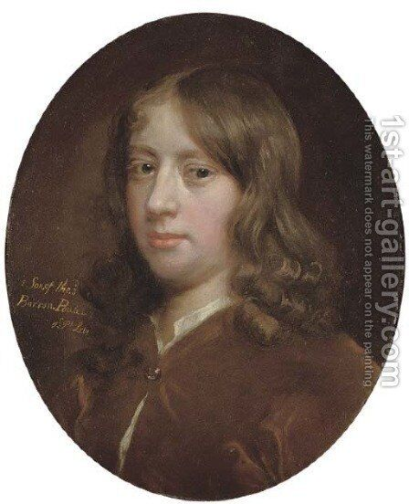 Portrait of John, 1st Earl Poulett (c.1668-1743), bust-length by (after) Sir Peter Lely - Reproduction Oil Painting