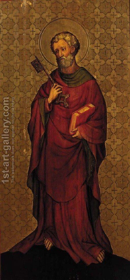 Saint Peter by (after) The Master Of The Heiderbacher Altarpiece - Reproduction Oil Painting