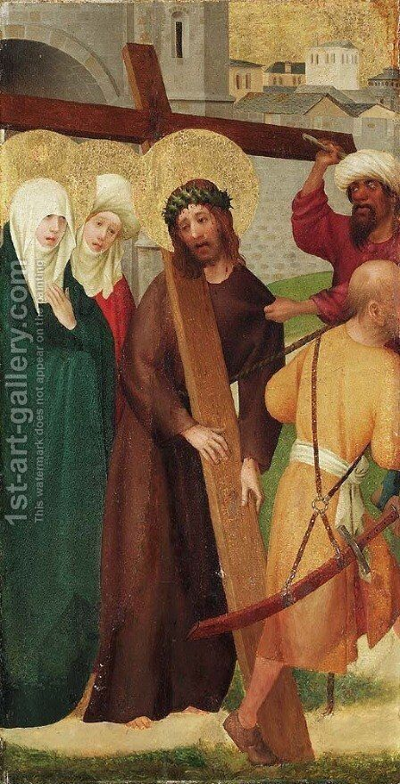 Christ on the Road to Calvary by (after) The Master Of The Heisterbach Altar - Reproduction Oil Painting