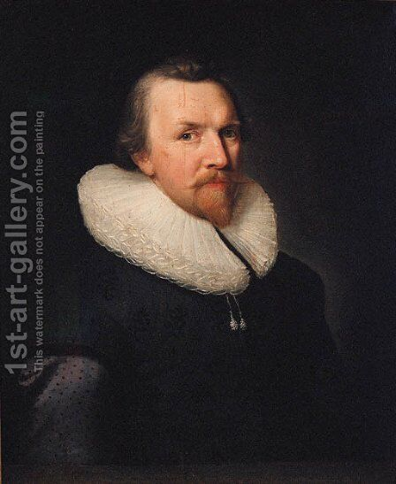 Portrait of a gentleman by (after) Thomas De Keyser - Reproduction Oil Painting