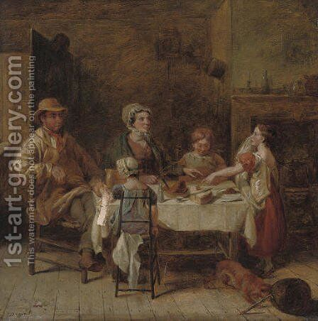 Still hungry by (after) Thomas Driver - Reproduction Oil Painting