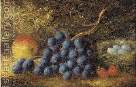 Grapes, an apple by (after) Thomas Collier - Reproduction Oil Painting