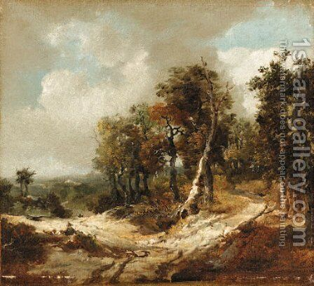 Landscape by (after) Gainsborough, Thomas - Reproduction Oil Painting